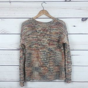 AEO colorful cable knit sweater fall pullover SP